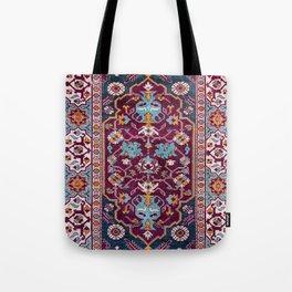 Romanian  Antique  Double Niche Carpet Print Tote Bag
