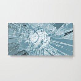 Reackter - Geometric Procedural Visuals Metal Print