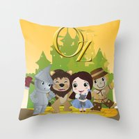 oz Throw Pillows featuring Oz by 7pk2 online