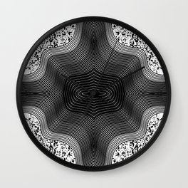 Black and White Contemporary Geo Abstract Art Wall Clock
