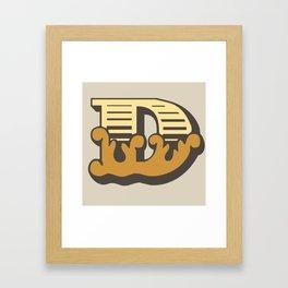 'The letter D' Design Motif Framed Art Print