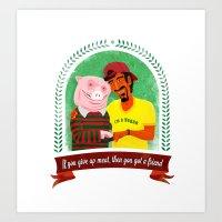 vegan Art Prints featuring Vegan by Bakal Evgeny