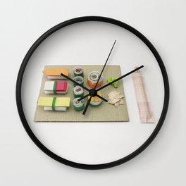 sushi, paper craft, paper art, kitchen, gift Wall Clock