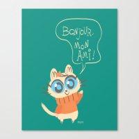 bonjour Canvas Prints featuring Bonjour by AronDraws