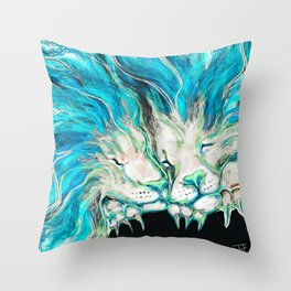 Lion Dreams Throw Pillow