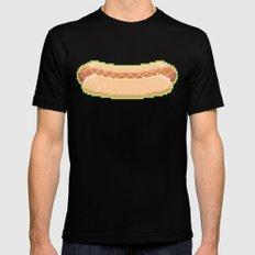 Pixel Hot Dog Black MEDIUM Mens Fitted Tee