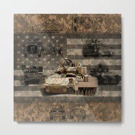 Bradley Infantry Fighting Vehicle Metal Print