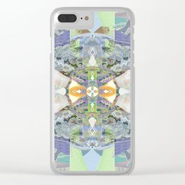 Heart of the Matter Vintage Neo Tribal Aztec/Tibetan Inspired Boho Mandala Clear iPhone Case