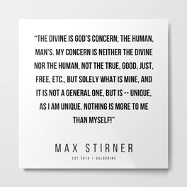 15    |Max Stirner | Max Stirner Quotes | 200604 | Anarchy Quotes Metal Print