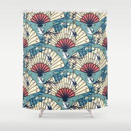 Oriental FanTasy Shower Curtain