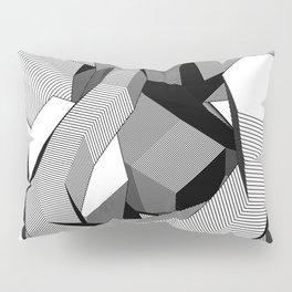 Abstract Geometric 3D Heart Pillow Sham