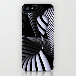 mirrored globs in OpArt-design iPhone Case