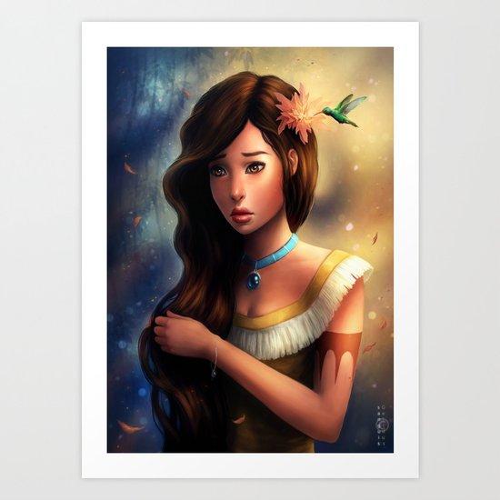 """Disney Pocahontas"" Art Print"