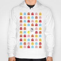 pac man Hoodies featuring Pac-Man Trapped by Psocy Shop