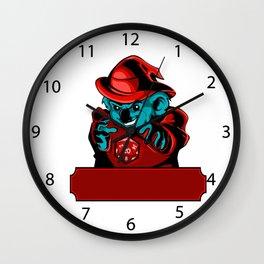 Cartoon koala Wizard Wall Clock