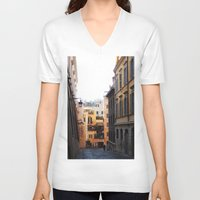 rome V-neck T-shirts featuring Rome by Anya Kubilus