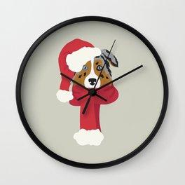 Australian Shepherd Christmas Dog Wall Clock