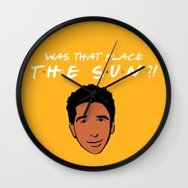 Was that place... The Sun?! - Friends TV Show Wall Clock