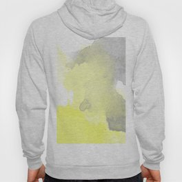 Yellow and Gray Ombre Watercolor  Hoody