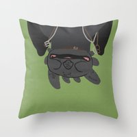 toothless Throw Pillows featuring Toothless by Raquel Segal