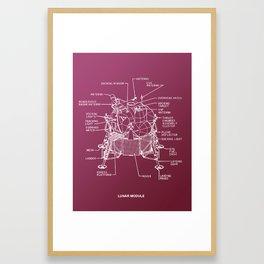 Lunar Module Schematic Framed Art Print