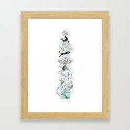 Vertical circus. Framed Art Print
