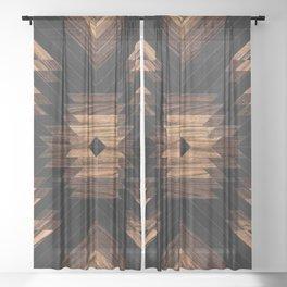 Urban Tribal Pattern No.7 - Aztec - Wood Sheer Curtain