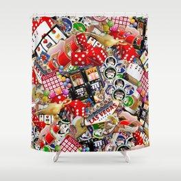 Gamblers Delight - Las Vegas Icons Shower Curtain