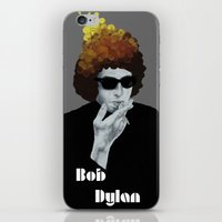 bob dylan iPhone & iPod Skins featuring Bob Dylan by Justin McElroy