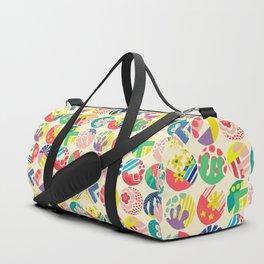 Abstract circle fun pattern Duffle Bag