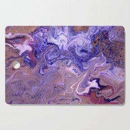 Purple Marble Swirls Cutting Board