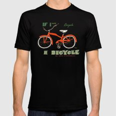 If I can bicycle, I bicycle Black Mens Fitted Tee MEDIUM