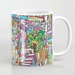 doodle owl village 2 Coffee Mug