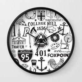 Providence Rhode Island Print Wall Clock