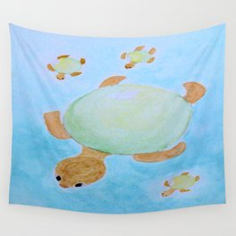 Flipper the grape Wall Tapestry
