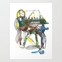 wings Art Prints featuring Wings by Dawn Patel Art