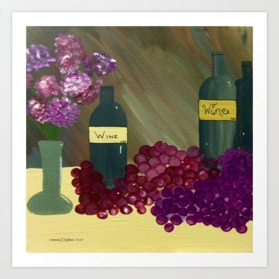 Wine Romance Art Print