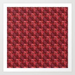 Ruby Bricks Art Print