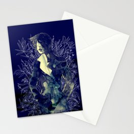 Shadow-man in conscious flowering ornament   Stationery Cards