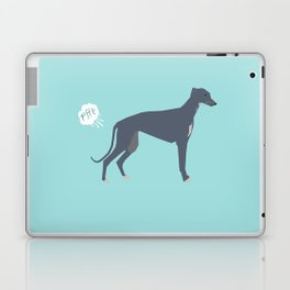 Greyhound farting dog cute funny dog gifts pure breed dogs Laptop & iPad Skin