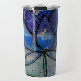 Abstract - Lotus flower - Intuitive Travel Mug