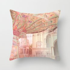 Viena carousel  Throw Pillow