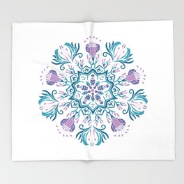 Mandala Ethnic Papua Throw Blanket