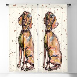 Hungarian Vizsla Dog Blackout Curtain