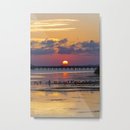 Sunset on the Sound Side Metal Print