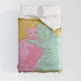 Cat Cuddles Comforters