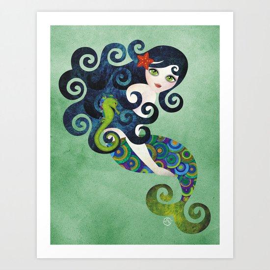 Aquamarine Mermaid Art Print
