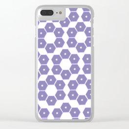 Ultraviolet Petals III Clear iPhone Case