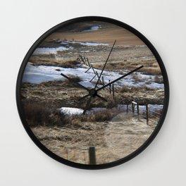Lower River Road Wall Clock