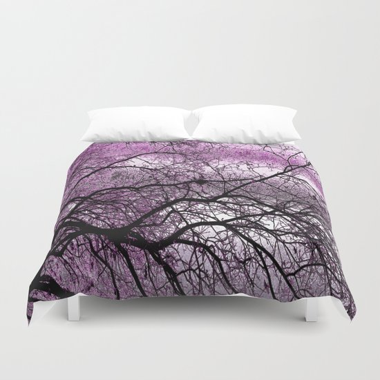 Twisted but Strong (violet orchid) Duvet Cover